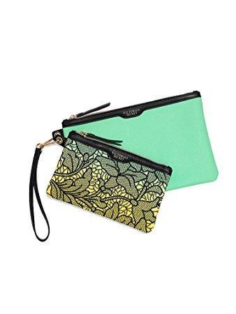 Victoria's Secret Travel Wristlet Bag Set Duo (Lime - Victoria Secret Jewelry