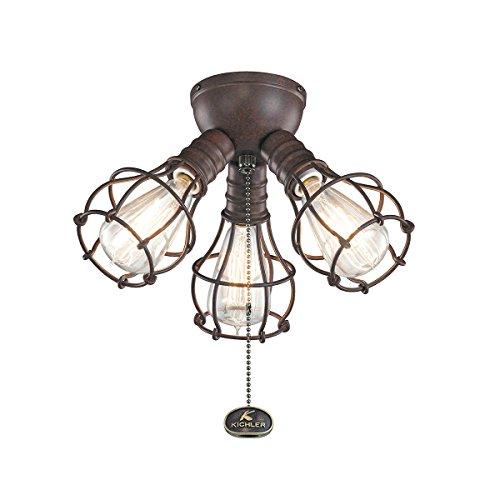 Kichler 370041TZ Three Light Fan Light Kit For Sale