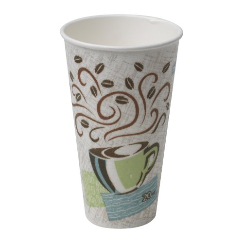 Georgia-Pacific PerfecTouch 5360CD WiseSize Insulated Paper Hot Cup, 20oz (Case of 500 Cups) by Dixie