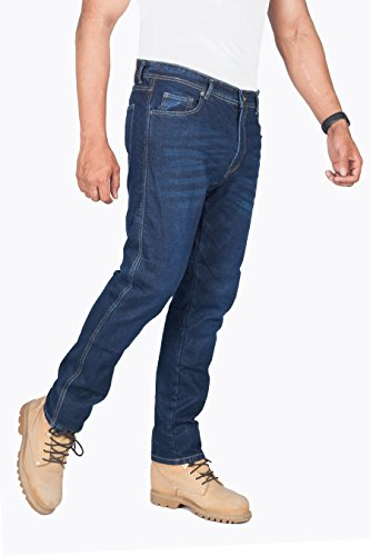 Huxlay Bros HB K2 Aramid Lined Straight Fit Whisker Wash Motorcycle Jeans 5002.