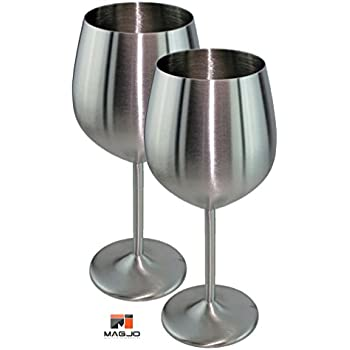 Amazon.com | MagJo Stainless Steel Wine Glasses- Highest