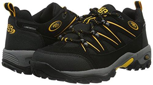 Bruetting Mount Hunter, Zapatos de Low Rise Senderismo para Hombre, Negro (Schwarz/Gelb), 44 EU