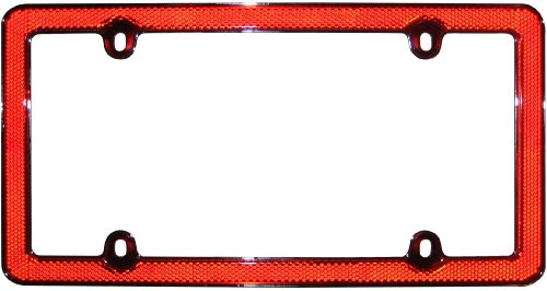 Reflector Plate (Cruiser Accessories 30436 Red Reflector II, Red/Chrome License Plate Frame)