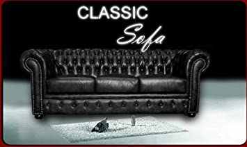 Buro Chesterfield Sofa Couch Pu Leder Classic Amazon De