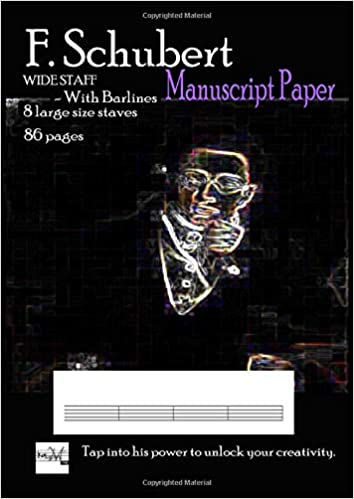 f schubert manuscript paper wide staff with bar lines 8 large