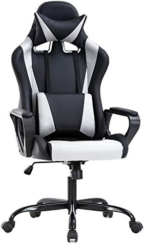 Ergonomic Office Chair PC Gaming Chair Cheap Desk Chair PU Leather Racing Chair Executive Computer Chair Swivel Rolling Lumbar Support