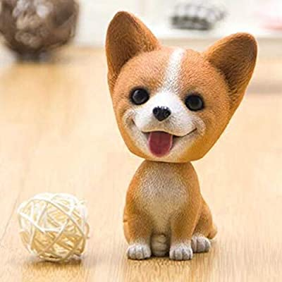 Zereff Car Shaking Head Dog for Automobile Dashboard Decoration Auto Shake Nod Doll Figure Nodding Toys Bobblehead Dog Accessories - (Color Name: Teddy(White)): Home & Kitchen