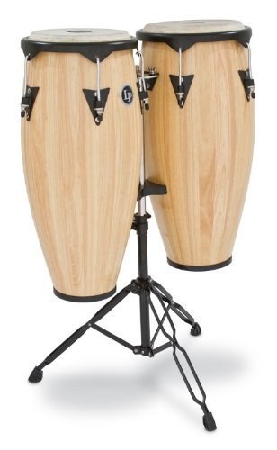 Latin Percussion LP City Wood Congas 10'' & 11'' Set - Natural Satin Finish by Latin Percussion