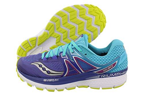 Saucony Women's Triumph iso 3 Running Shoe, Purple/Blue/Citron, 7 M US