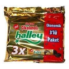 Ulker Halley Sandwich Biscuits w/ Marshmallow and Cocoa 3 Packs 264gr by Ulker