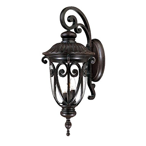 Acclaim 2122MM Naples Collection 3-Light Wall Mount Outdoor Light Fixture, Marbleized Mahogany Acclaim Lighting Naples Collection