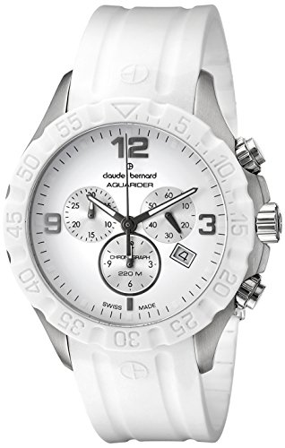 Claude-Bernard-Mens-10201-3B-BIN-Analog-Display-Swiss-Quartz-White-Watch