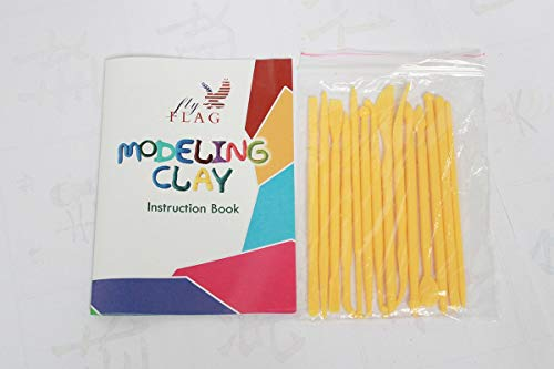 FlyFlag Eco-Friendly Modeling Clay, Air Dry Molding Magic Clay, Ultra Light, Non Toxic for Kids, Teens, Creative Art DIY Crafts, Best Kids Gifts Ever, 36 Colors