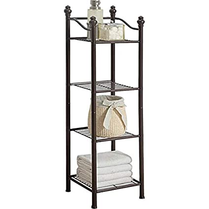 Amazoncom Metal Storage Cabinet 429 H Bathroom Shelf With Oil