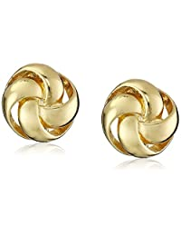 "Anne Klein""Classy Clippers"" Gold-Tone Knot Clip-On Earrings"