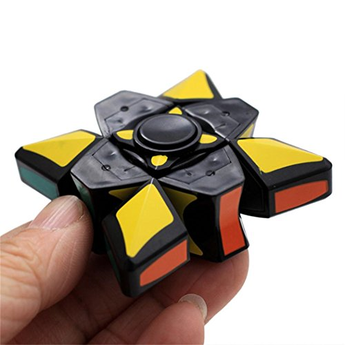 360 Degrees Speed Cube Finger Toy,YOYORI Smooth And Speed 1x3x3 Press Rubiks Cub Stickerless Puzzle Spinner Focus EDC Toy for Kids Adults Training Brain Relieving Hand Toy