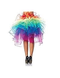 UTOVME Sexy Women Organza Tutu Cute Boutique Ballerina Mini Skirt Rainbow