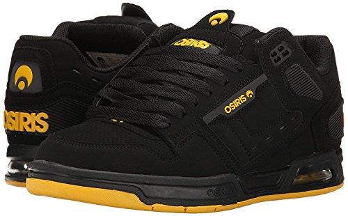 Osiris Peril Negro Amarillo Hombres Patín Entrenadores Zapatos