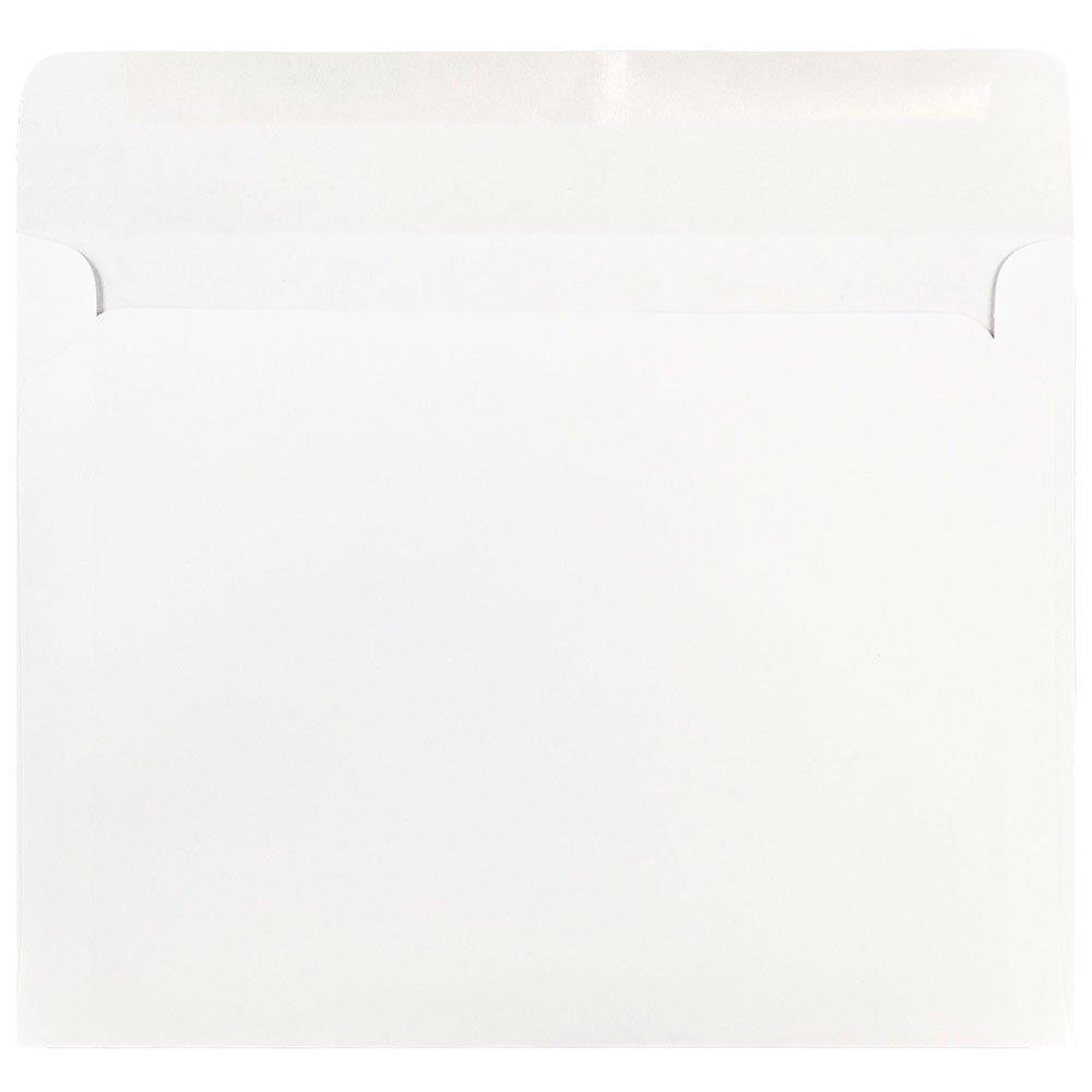 50//Pack White JAM PAPER 10 x 13 Booklet Envelopes