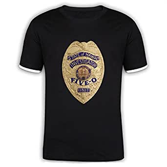Jidig man hawaii five 0 badge mercerized for Hawaii 5 0 t shirt