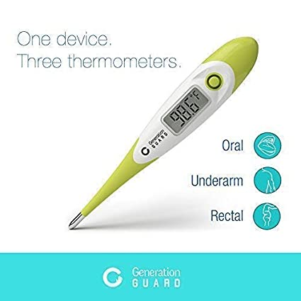 Medical Digital Thermometer For Infant Baby Kids Adults Accurate Instant 15 Second Read With