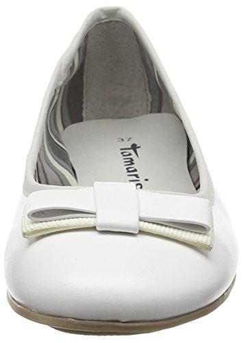 100 Tamaris Mujer Bailarinas White Blanco 22113 AfwZqfg