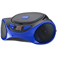 Sylvania SRCD1063BT-BLUE Bluetooth Portable CD Radio Boom Box, Blue