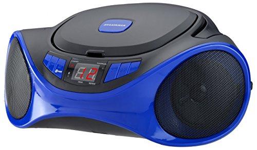 Sylvania SRCD1063BT BLUE Bluetooth Portable Radio