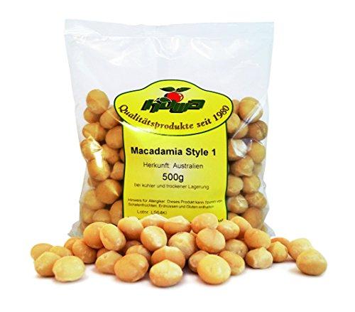 Howa Macadamia Nüsse roh Kerne naturbelassen, 1er Pack (1 x 500 g)
