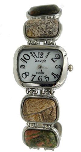 New Gem Stone Inlay Fashion Bracelet (Gemstone Bracelet Watch)