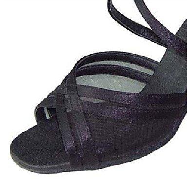 Zapatos Negro Salsa Oro baile Personalizables black Latino de Tacón Personalizado rUxHqrnaw