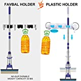 Favbal 2PCS Broom Mop Holder Wall Mount Stainless