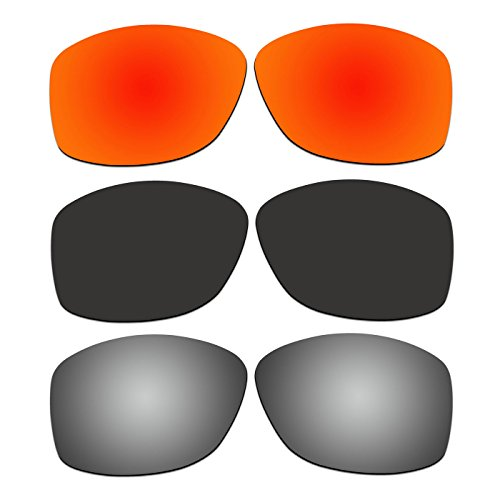 3 Pair ACOMPATIBLE Replacement Polarized Lenses for Oakley Cohort Sunglasses OO9301 Pack - Cohort Replacement