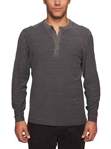 TADD Men's Don Long Sleeve Jersey Henley, Black, L