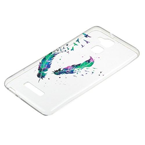 Funda para ASUS Zenfone 3 Max ZC520TL, Ukayfe Suave Carcasa Caso Parachoques Diseño pintado Patrón para ASUS Zenfone 3 Max ZC520TL,Funda Case Lujo Premium Bling Caja PC Dura Ultra Fina Cubierta Matt G Doble de la pluma