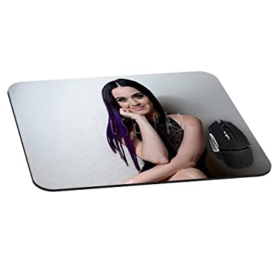 Katy Perry Gaming Office Mouse Pad with Cloth Cover - Non-Slip Rubber Backing - Special-Textured Surface(8.7*7.1*0.12Inch)