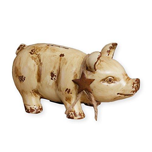 Ceramic Piggy Bank w/ a country flair 8