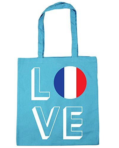 Bag x38cm Love Surf litres Blue 10 Shopping Tote France 42cm Beach Gym HippoWarehouse qY8x1Zdw8