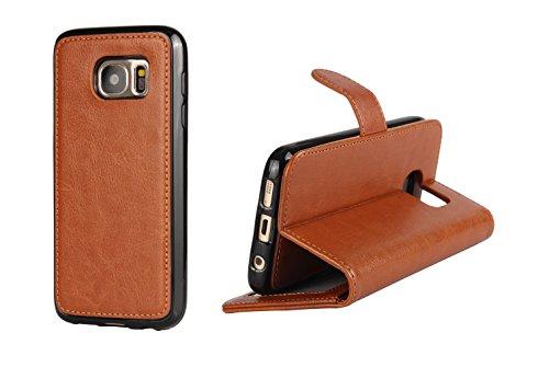 XYUN Samsung S7 2-in-1 Wallet Folio Flip PU Leather Case,...