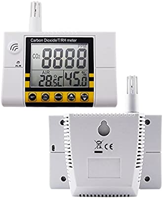 Temperature and Relative Humidity Wall Mountable Carbon Dioxide Detector GZAIR Model 1 Indoor CO2 Meter NDIR Sensor 0~5000ppm Range Date Logger Air Quality Monitor