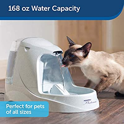 PetSafe Drinkwell Platinum or Platinum LED Pet Fountains, Best for Cats and Small to Medium Dogs, Fresh Filtered Water…