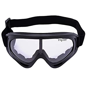 YYGIFT CS Goggles Windproof UV400 Motorcycle Cycling Snowmobile Ski Goggles Eyewear Sports Protective Safety Glasses - Clear