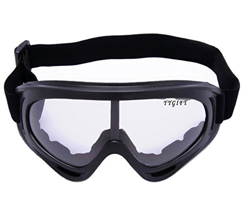 Snowmobile Eyewear Accessories - YYGIFT CS Goggles Windproof UV400 Motorcycle Cycling Snowmobile Ski Goggles Eyewear Sports Protective Safety Glasses - Clear
