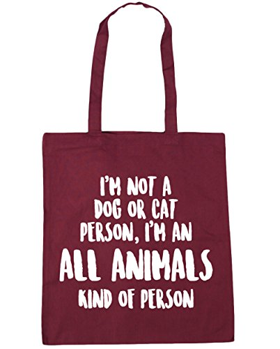 Tote 10 or Animals a All an of Beach Burgundy I'm Gym of Cat Person 42cm x38cm HippoWarehouse Kind Person litres I'm Not Bag Kind Dog Shopping pqga7