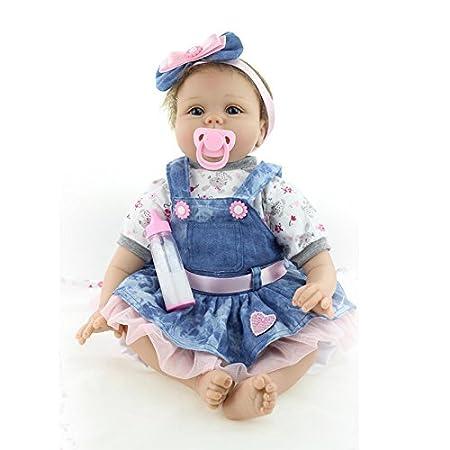 Nicery Baby Born Reborn Weich Silikon Vinyl für Jungen und Mädchen Geburtstagsgeschenk 50-55cm Dolls gx55-55de