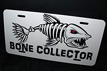 Fishing Metal Novelty License Plate Tag for Cars and Trucks Fish On Bass Fishing Auto Car Novelty Accessories License Plate Art