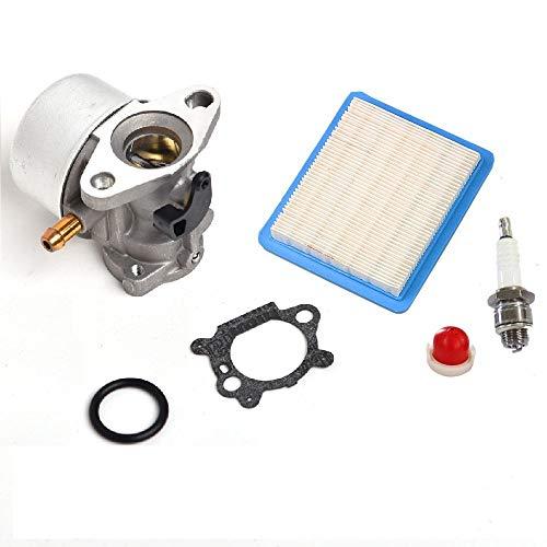 JR PARTS Carburetor for Briggs & Stratton 14111 Craftsman 625 498170 6150 Engine with Gasket Air Filter Primer Bulb Spark -