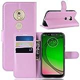 Capa Capinha Carteira Case 360 Para Motorola Moto G7 Play Com Tela De 5.7 Couro Sintético Flip Wallet Para Cartão - Danet (Rosa)