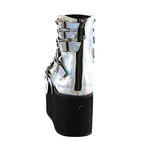 Demonia - Defining Alternative Footware Plateau Sandalen Demonia Silber, veganes Leder GRIP-31