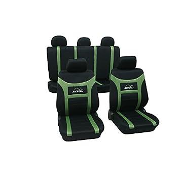 CDEL-22 beige schwarz 17 teiliges Set Lederlook Sitzbezug Schonbez/üge Schonbezug Autoschonbezug